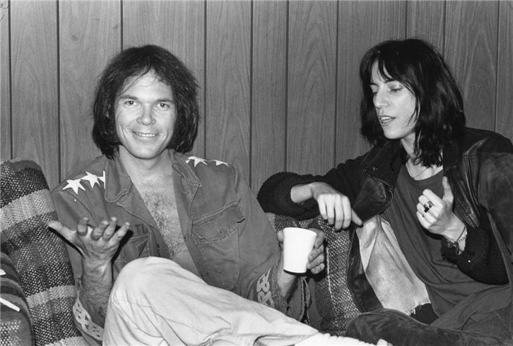 Neil Young and Patti Smith 1976